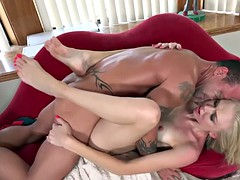 Foot fetish fucking with Kara Stone