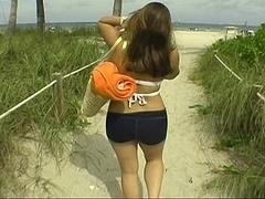 素人, ビーチ, 茶髪の, カップル, 彼女, ハメ撮り, 現実, ティーン