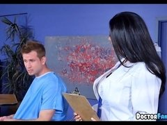 Hot MILF Doctor fixes his Dick