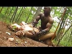 Amazan & furthermore black warriors meet & furthermore end up fighting for sex