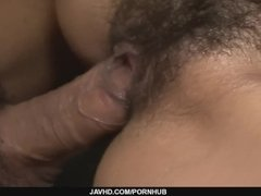 Redhead Asian chick Yuna Hirose gagging a throbbing cock and screwed