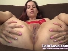 Lelu Love-Closeup Anal Plug Jerkoff Encouragement