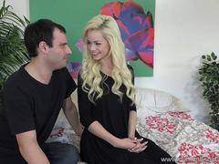 Elsa Jean and Husband Take Huge Cock Together