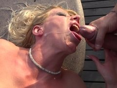 Three girls are with two guys, doing a really hot and kinky orgy