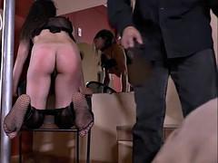 Bastinado feet whipping and tied spanking of latina amateur