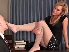 Weibliche domination, Fußfetisch, Lehrer