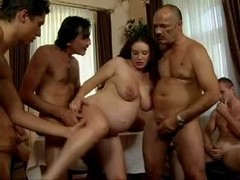 daddy's Mates Gang-fuck his pregnant daughter
