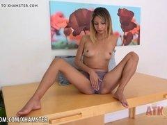 Jade Jantzen's pussy panties play!