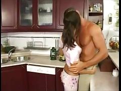 Анальный секс, Красивые, Брюнетки, Венгерки, На кухне, Тощие, Сиськи