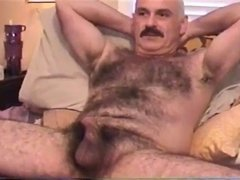 Giving a bj of sexy bushy moustache daddy