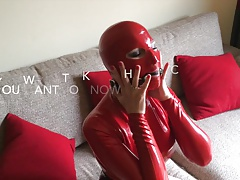 Bupshi - red latex slut