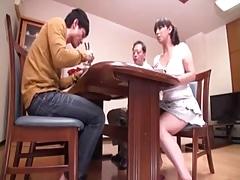 着衣女と全裸男, 日本人, 淫乱熟女, 母