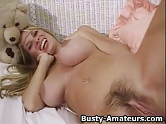 Hot chick Mary masturbates after hot interview