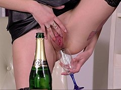 Drinking her natural Champagne and plus making love
