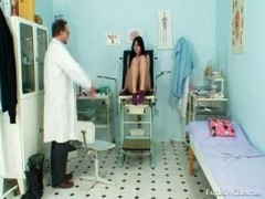Boobalicious Adriana breasts and moreover snatch gyno exam at kinky clinic