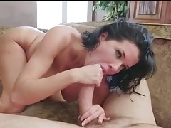Fucking her hard and strong. He cums and squirts