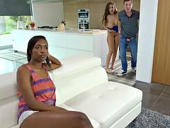 Busty Latina seduces her sister's boyfriend