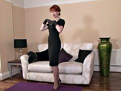 Elegant Redhead Plays With Herself