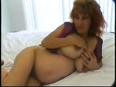 Buxomy preggo mom double penetration ravage