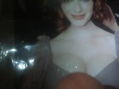 Cumming on Christina Hendricks