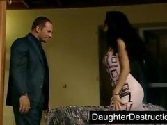 Nice-looking daughter humiliation