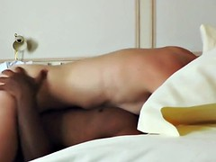 hubby watches his slim blonde wife