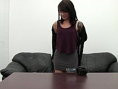 Endearing femdom goddess inspects venue and besides strips off