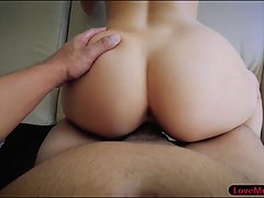 Curly hair stepsis Elena Koshka pounded by hard man meat