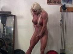 Muscular Porn Star Ashlee Chambers and Her Big Clit
