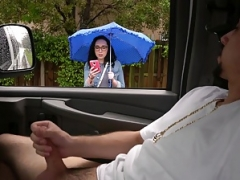 Scarlett picked up & fucked in the BangBus