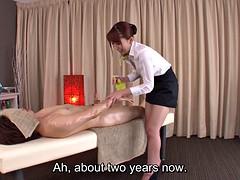 Asiatique, Homme nu et filles habillées, Japonaise, Massage