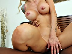 Hottie Sarah Jessie takes on a big black cock