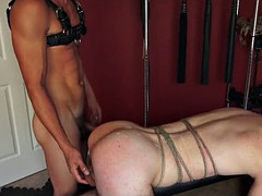 bdsm cute young boy all attached