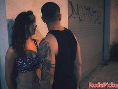 Bigass teen stranded and dominated