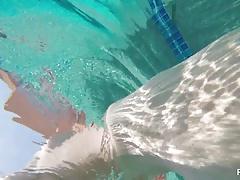 Swimming and Masturbation with blonde cutie Samantha Rone