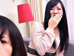 Subtitled CFNM Japanese friend watches surprise blowjob