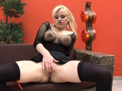 Cute blonde Britney gets her asshole filled with cock