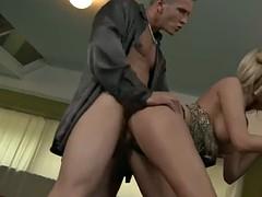 blonde enjoys double penetration