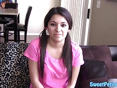 Pigtails teen amateur fucked in tight pussy