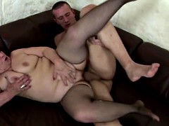 Mature anal sex and creampies for aged sexbombs
