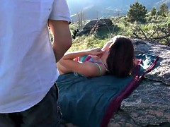 Hot Skinny Redhead With Small Tits Has Casual Sex Outdoors