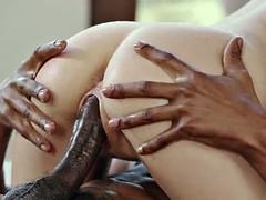 Большой член, Черные, Блондинки, Черненькие, Группа, Межрасовый секс, На природе
