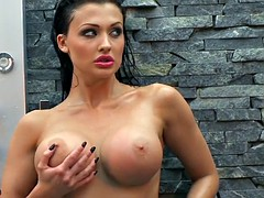 Aletta Ocean horny chick taking a shower naked