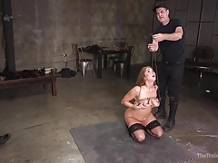 Brand New Busty Babe Bound and Beaten