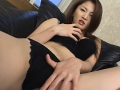 Yuki Touma fondles her hot cans and furthermore arouses nooky with