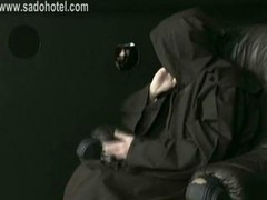 Lascivious nun confesses to priest & got spanked on her h&s with a wooden stick