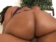 black chubby takes deep in her ass