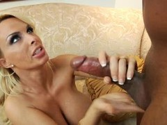 Asian Broad With Undersized Tits Giving bj Lad Riding On His Cum cannon On The Couch