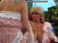 Sexy retro broad excited seduction