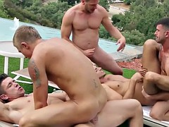 outdoor orgy at the culmination of Trenton Ducati
